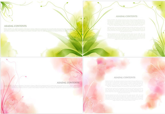 dream plant side backgrounds vector graphic