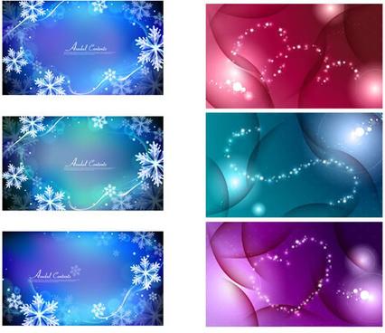 dream snow background art vector