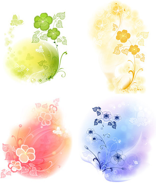 dream soft decorative pattern background vector