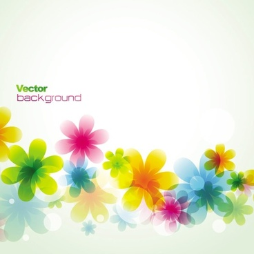dream spring flowers background 02 vector
