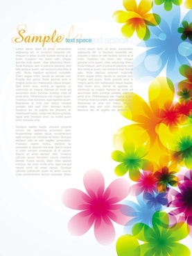 dream spring flowers background 04 vector
