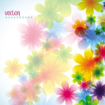 dream spring flowers background 05 vector