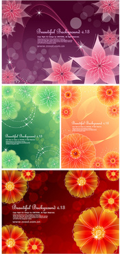 dream the flower background vector