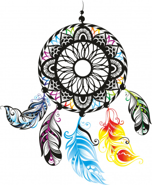 dreamcatcher color free cdr vectors art