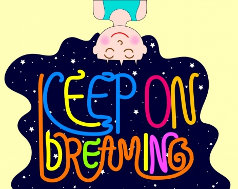 dreaming background upside down kid icon starry sky