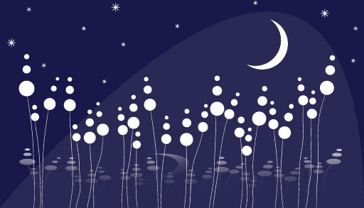 dreamy night vector graphic
