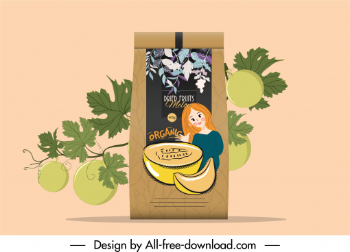 dried fruit packaging template elegant classical handdrawn decor
