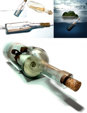 drifting bottle wishing bottles of highdefinition picture 5p