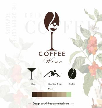 drink menu cover template elegant blurred coffee floral