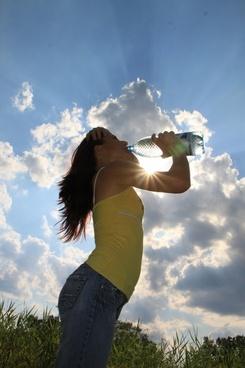 drinking sun water