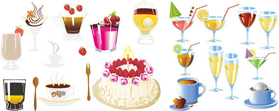 drinks and cakes art
