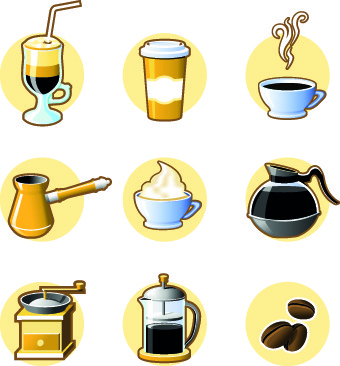 drinks food vector set