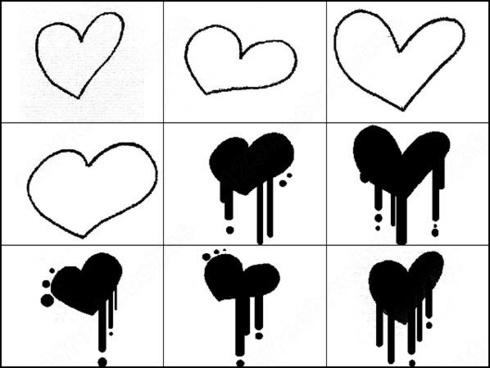 dripping hearts brush