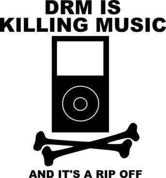 Drm Is Killing Music clip art