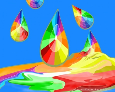 drops of color