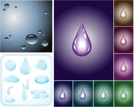 drops of water droplets vector