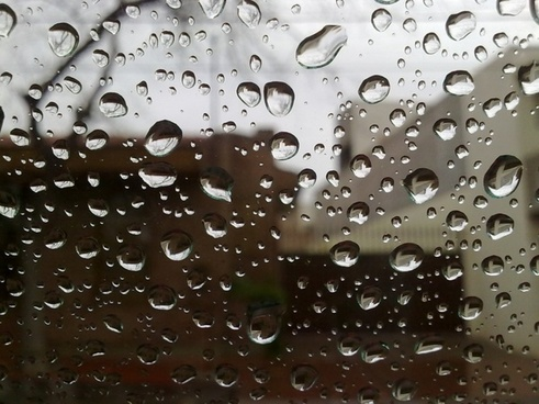 drops rain glass