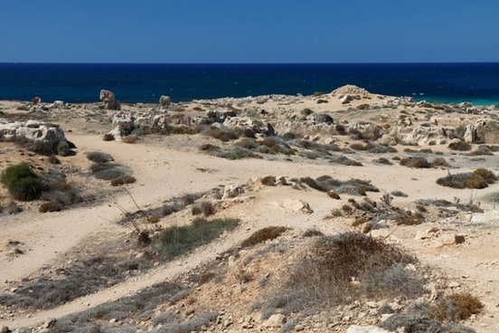 dry deserted coast