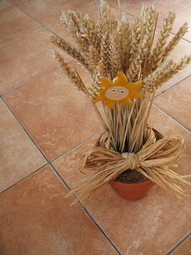 dry grain decoration