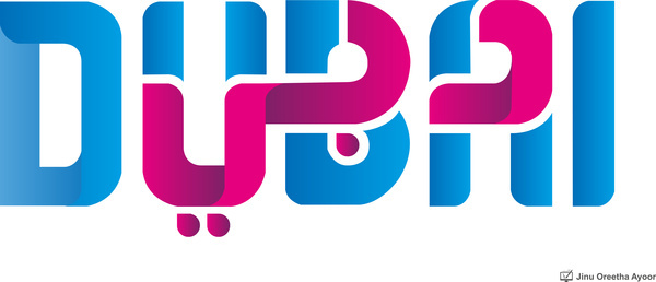dubai new logo title free vector