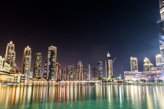 dubai night sky 2014