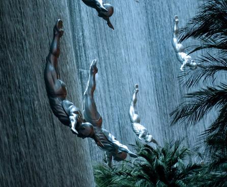 dubai waterfall