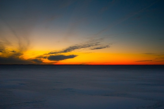 dusk landscape and seascape over lake michigan wisconsin free stock photo