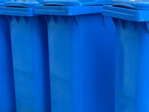 dustbin paper wheelie bin blue tonne