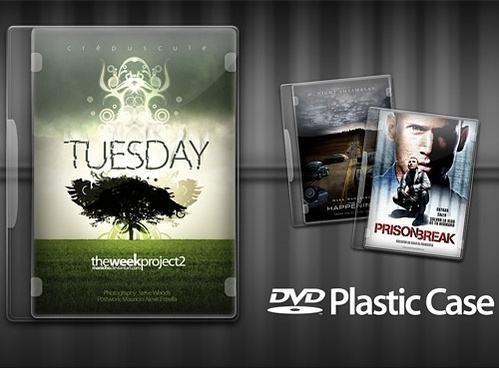 DVD Plastic Case PSD file