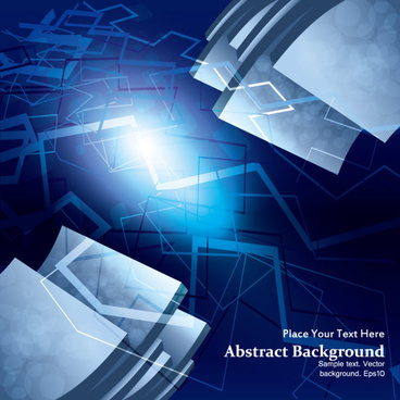 dynamic 3d abstract background vector set