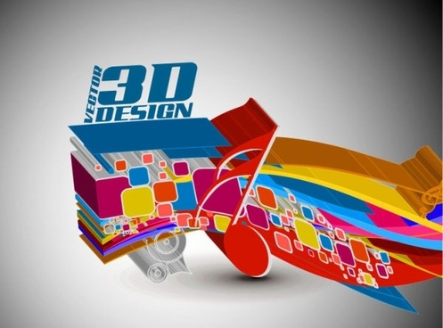 dynamic 3d elements 01 vector