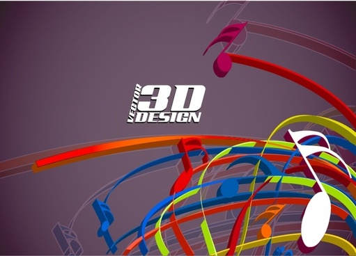 music background colorful modern dynamic 3d design