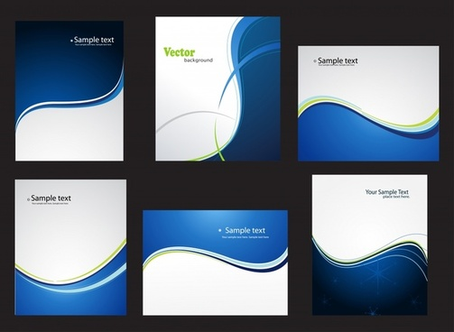 decorative background templates modern dynamic curves decor