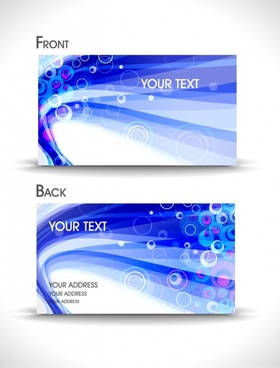 dynamic abstract business card template vector