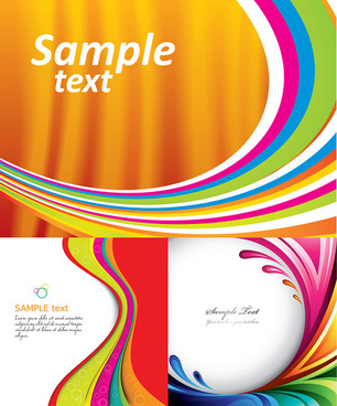 dynamic abstract colored lines vector