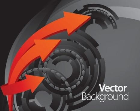 dynamic arrow 01 vector