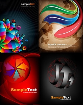 decorative backgrounds modern colorful dynamic flat 3d design