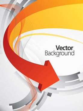 dynamic arrow background vector