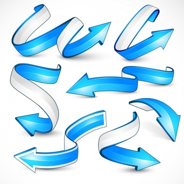 decorative arrows templates 3d dynamic shapes