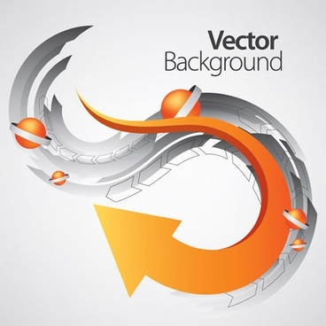 technology background modern dynamic curved arrow decor