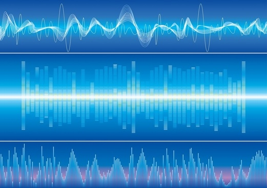 audio waves background modern dynamic shapes