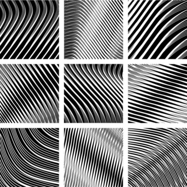 dynamic black and white spiral pattern 02 vector