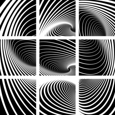 decorative background templates black white illusion dynamic decor