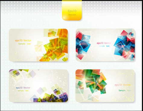 dynamic brilliant card background vector