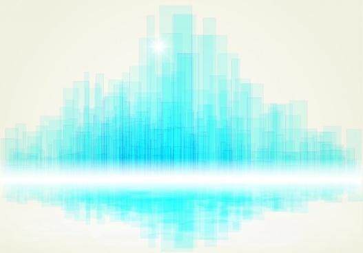 technology background shiny modern blurred blue vertical columns