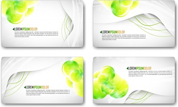 business card templates bright modern dynamic decor