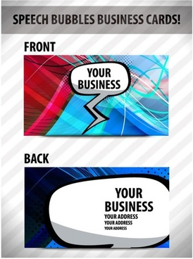 dynamic business card template vector