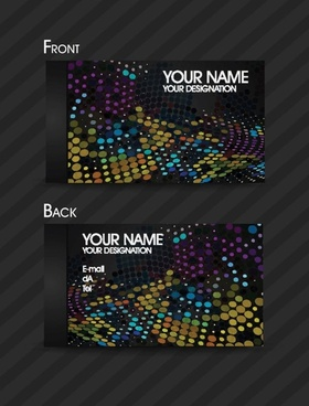 dynamic color business card template 01 vector