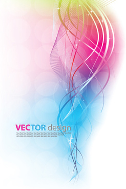 dynamic colored backgrounds vector set