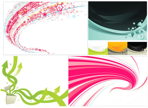 dynamic colored elements background